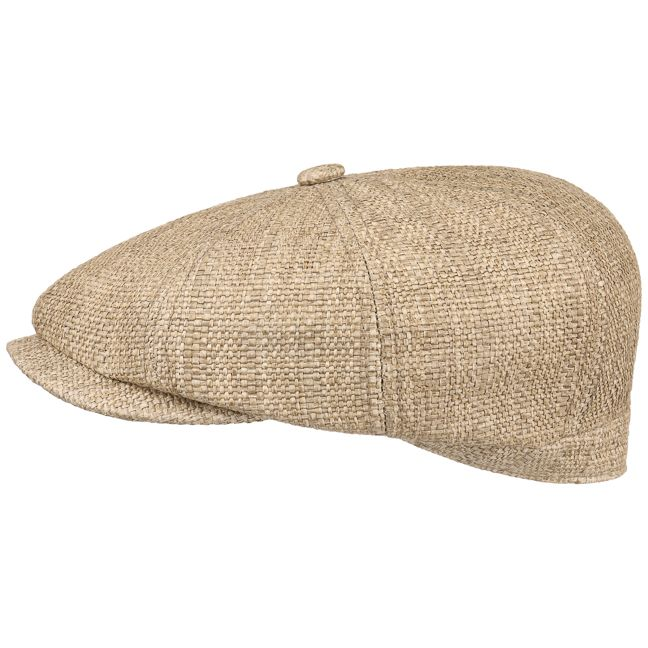 Zomer flat cap van stro met katoenen voering. Hatteras Fine Toyo Pet by Stetson binnen 1 dag geleverd & 100 dagen ruilen. Thuiswinkel lid & iDEAL-betaling.