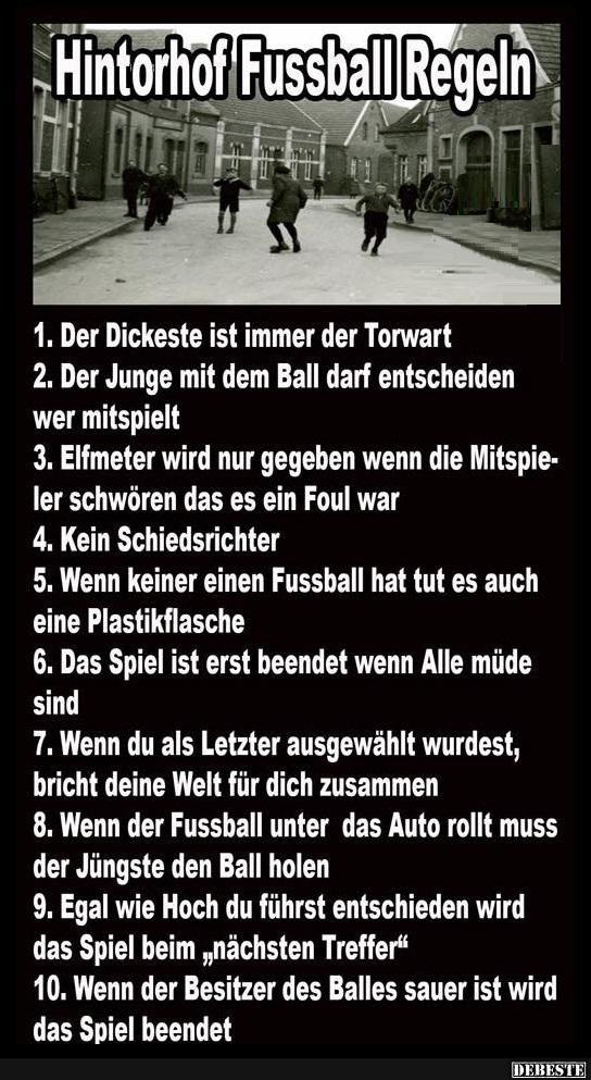 Hintorhof Fussball Regeln