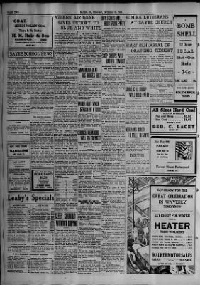 The Evening Times from Sayre, Pennsylvania on October 30, 1933 · Page 2