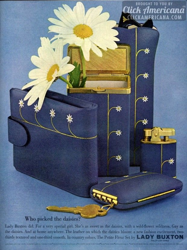 Who picked the daisies? In country colors, the Petite Fleur Set by Lady Buxton – wallets, sunglass case, key wallet
