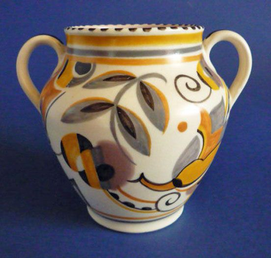 Poole Pottery YE Pattern Vase by Truda Carter c1934