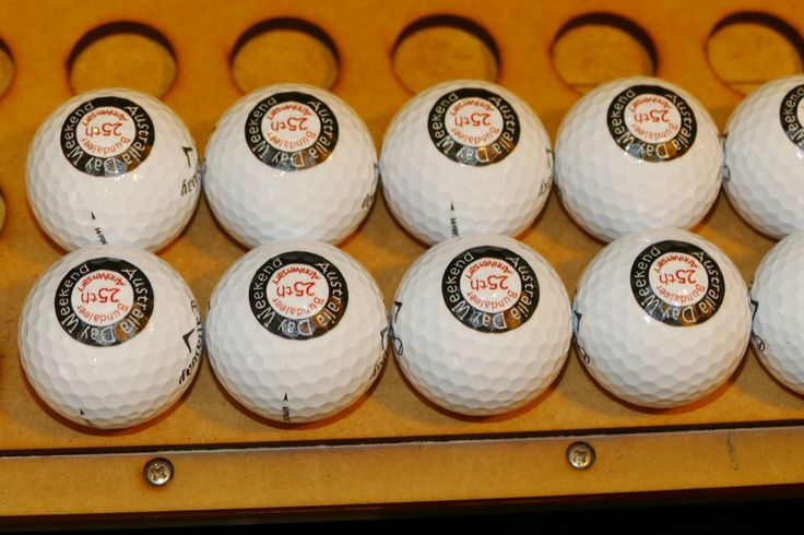Golf balls printed with your own messages for identification of great gifts. Send 12 balls for your next round of gifts