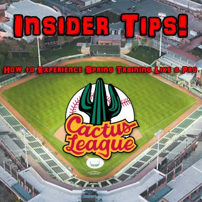 Insider tips to help you plan an amazing Cactus League Spring Training trip to Scottsdale and Phoenix Arizona.