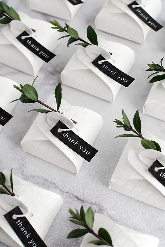 Hochzeitsbevorzugung Modelle 2018 Weiße Box Live Blumen – Give Away