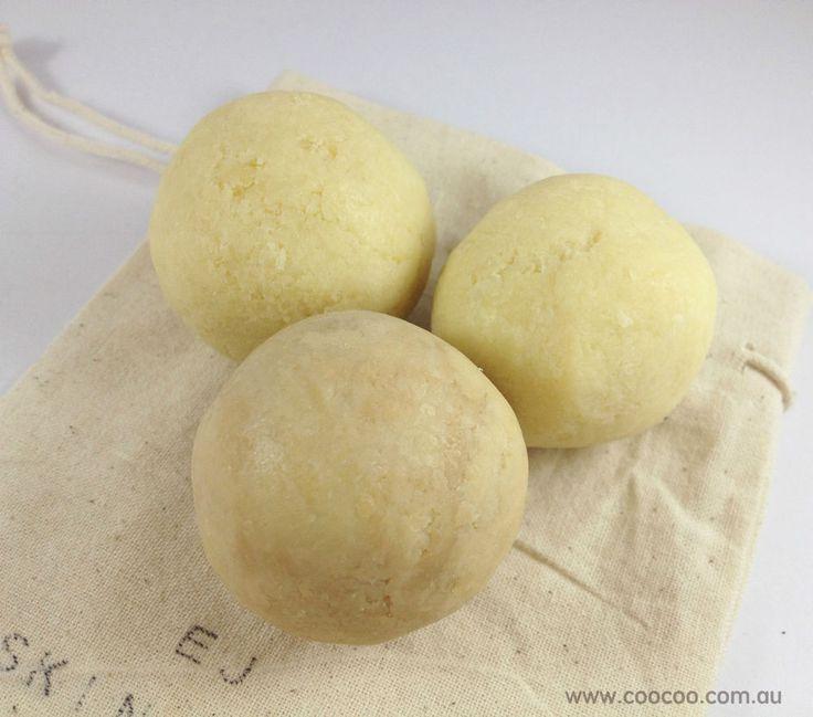 3 Australia Natural Handmade Soap Balls-1 Vanilla Coffee &2 Vanilla- cool gifts