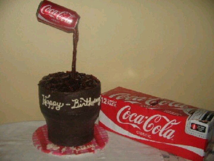 how to make a coke bottle cake