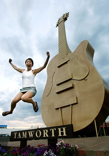 Standing at over 12 metres tall, The Golden Guitar is a must see when visiting Tamworth, NSW. (Australia's country music capital!)