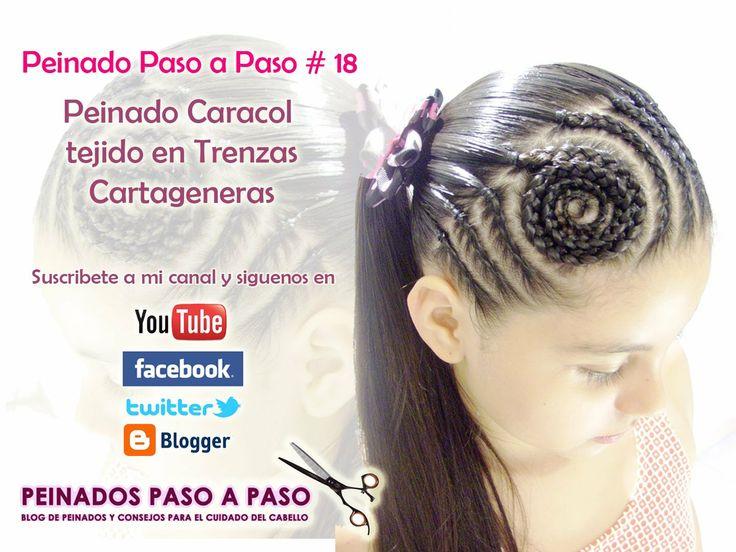 Peinado para niña paso a paso # 18 - Peinado Caracol tejido en trenzas cartageneras --> http://bit.ly/1g0gWuQ