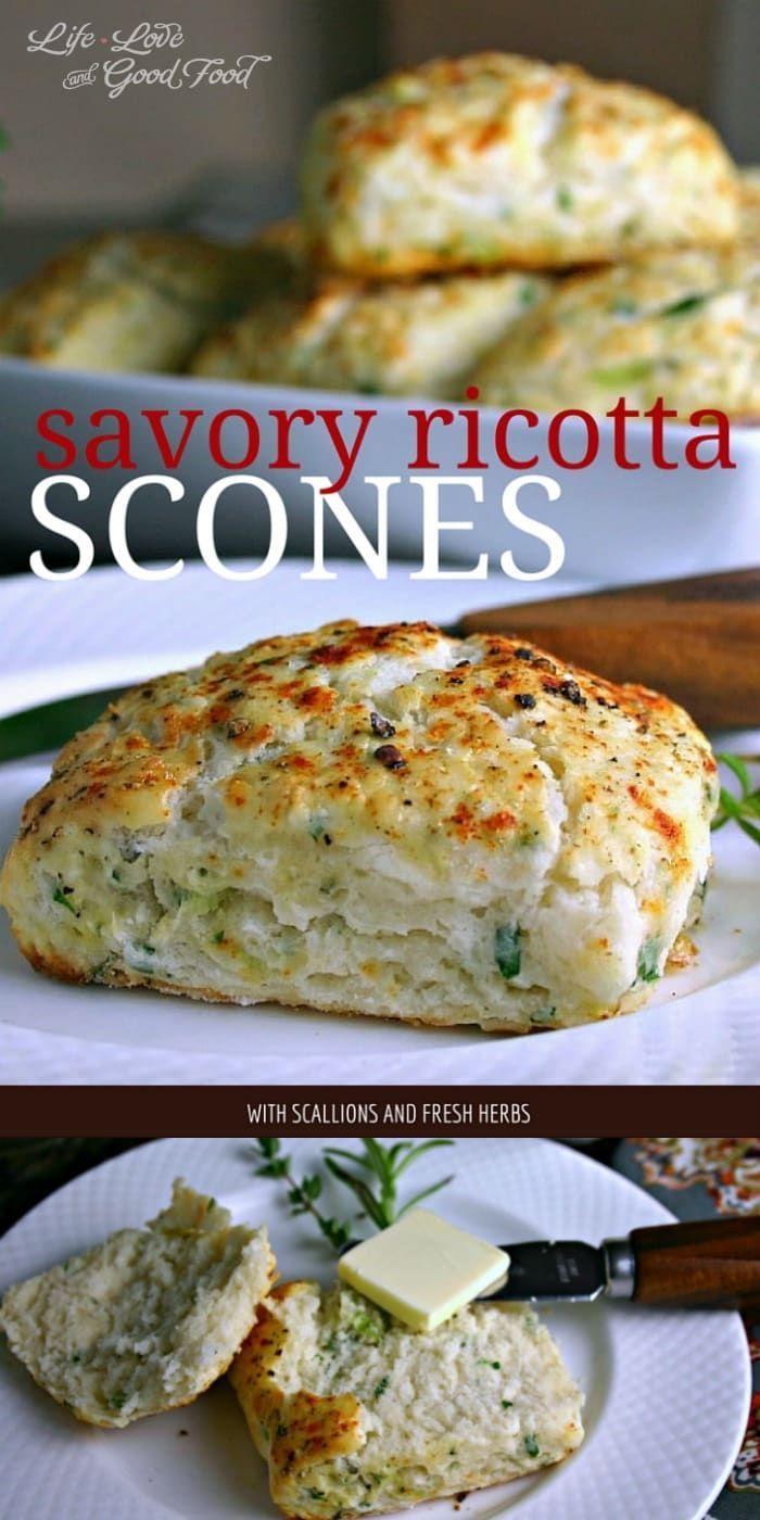 Savory Ricotta Scones   Life, Love, and Good Food