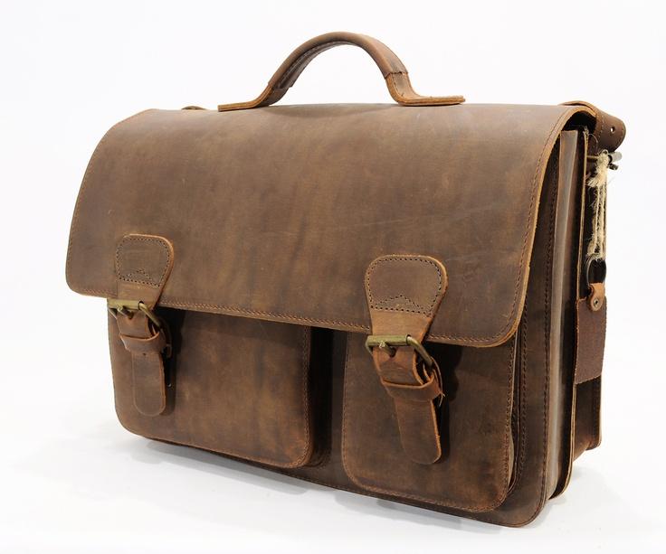 "Cartable Cuir Vintage LapTop 15"" - Cartables Enseignant Cuir - Types de Sacs - Cartables en cuir Ruitertassen #leather"