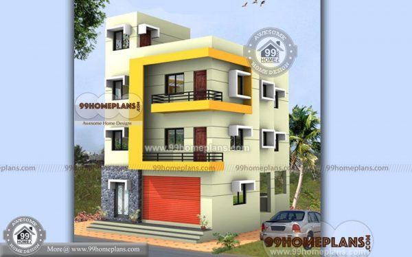 Apartment Building Floor Plans Triple Story House Simple Modern Styles Small Contemporary House Plans Small House Design Architecture Budget House Plans