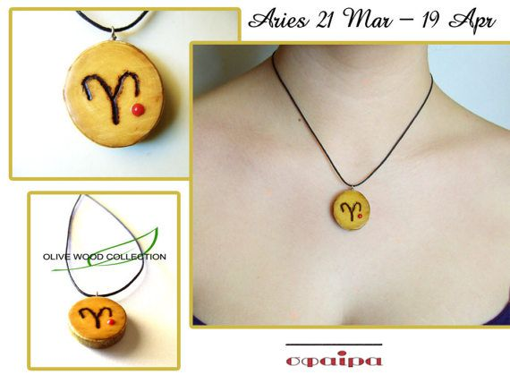 Genuine hand-made Olive Wood Aries Zodiac by SfairaKosmima on Etsy