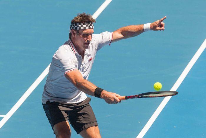 Pat Cash regresó al tenis en Perth!!