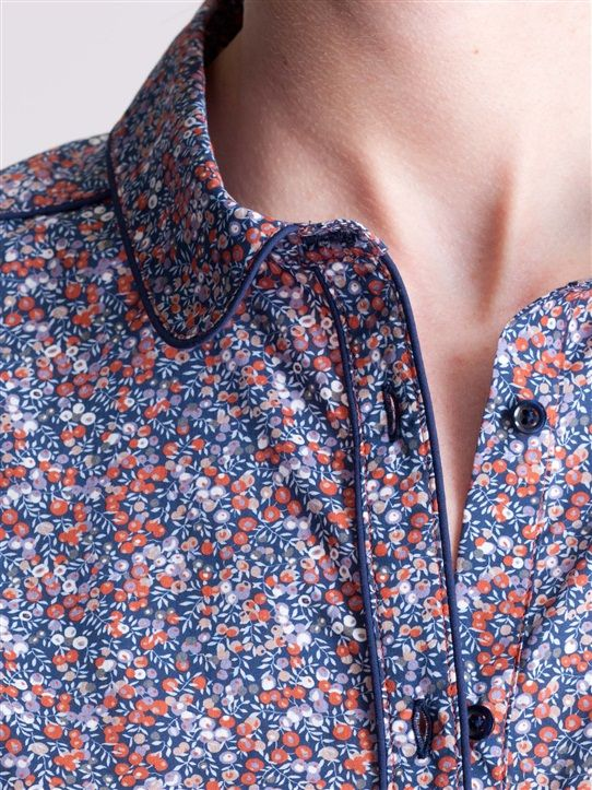 CHEMISE FEMME LIBERTY LODDEN+STRAWBERRY THIEF+WILMSLOW BERRY  (85€ cyrillus.fr)