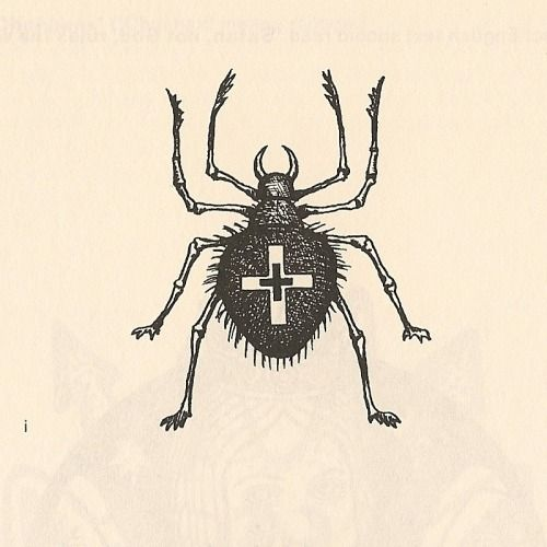 russian-criminal-tattoos:  Popular beetle tattoos.  i. This popular thieves' tattoo is the symbol of a pickpocket, a 'pincher'. Tattoos of this type made on both sides of the neck denote multiple violations of prison regulations. 1960s. Between the thumb and the index finger.