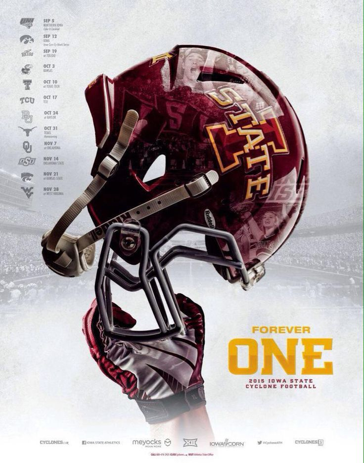 Iowa State 2015 Football Poster