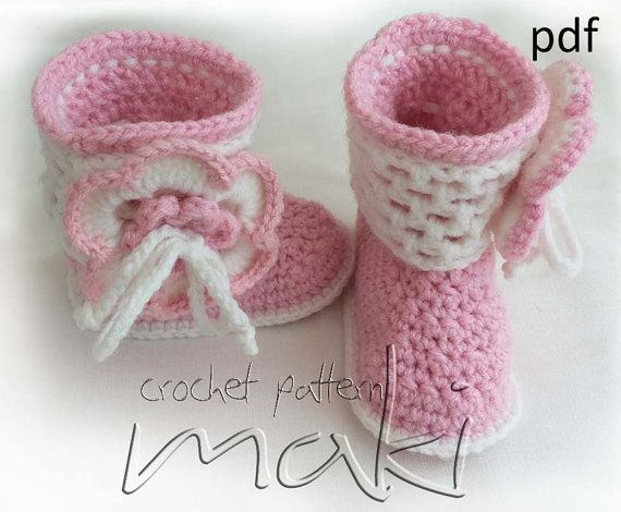 Crochet Patterns To Sell : Baby boots crochet pattern - Permission to sell finished items - No s ...