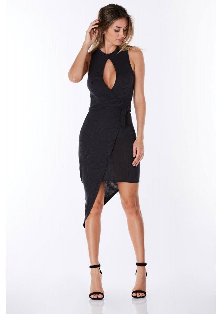 Ring Around Mini Dress in Charcoal | Necessary Clothing