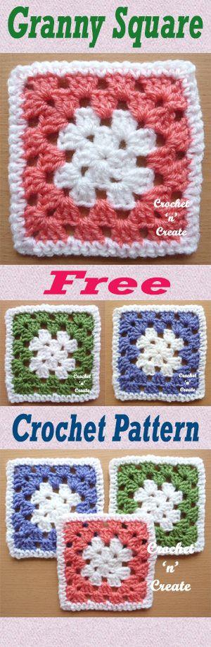 simple granny square crochet instructions