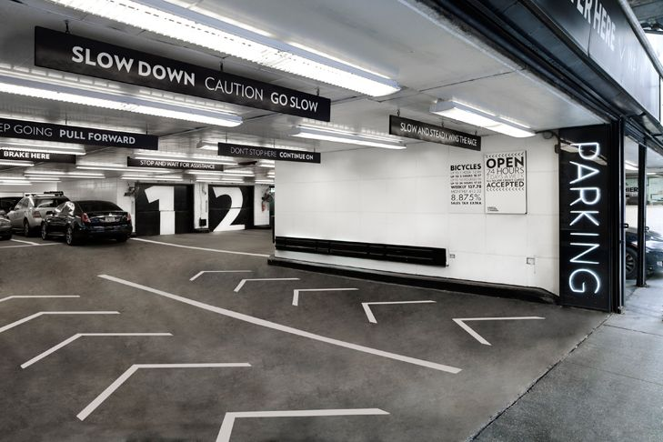 Parking at 13-17 East 54th Street. Best looking parkade I've ever seen.