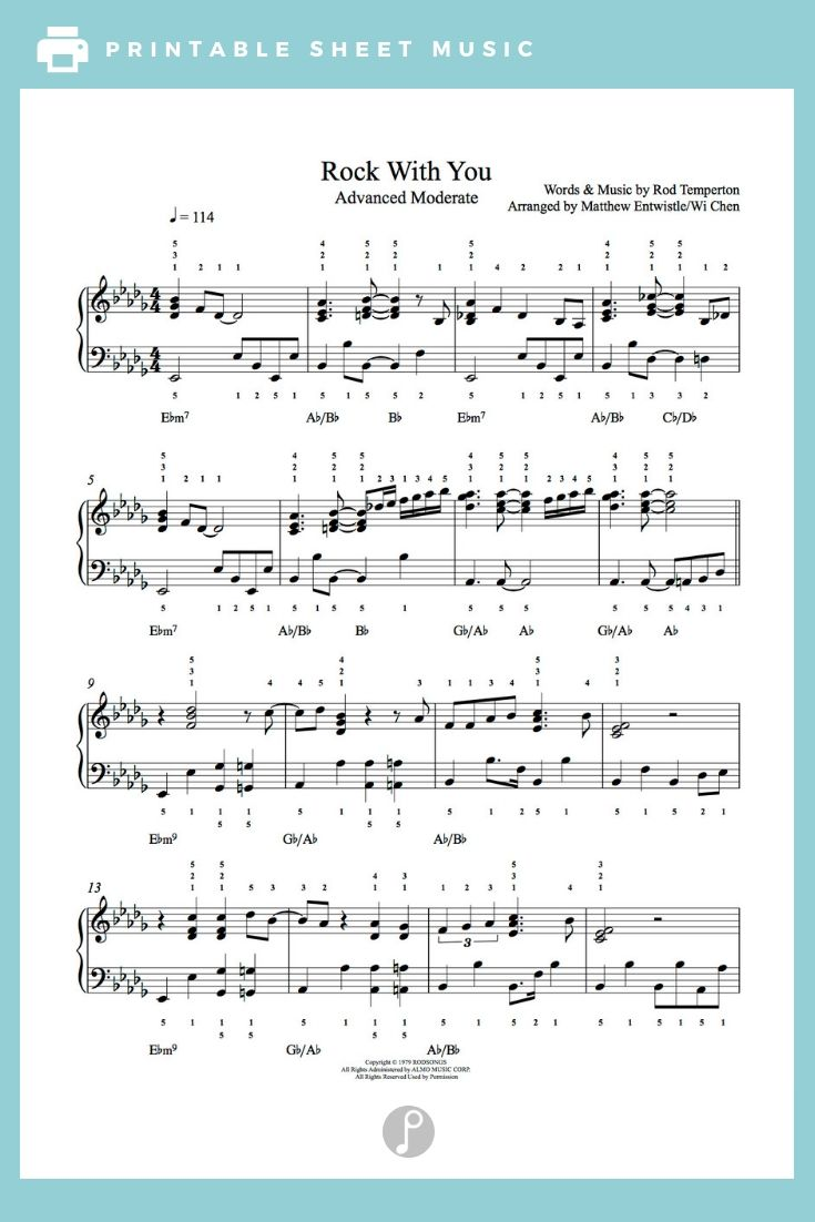 A Dream Is A Wish Your Heart Makes Flute Sheet Music Rock With You By Michael Jackson Piano Sheet Music Advanced Level Sheet Music Piano Sheet Music Popular Piano Sheet Music
