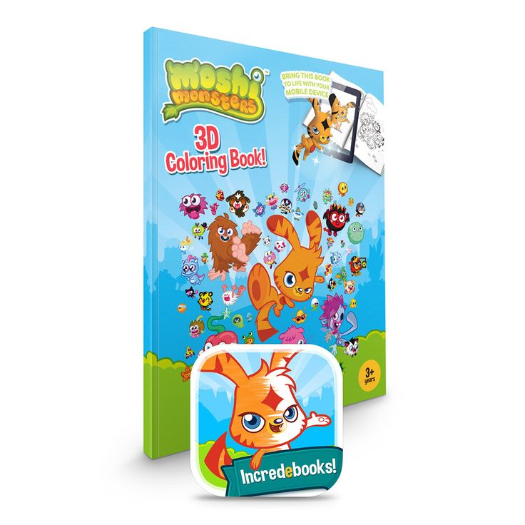Moshi Monsters Connected Coloring Book - uses augmented reality to bring coloring to life in 3D!