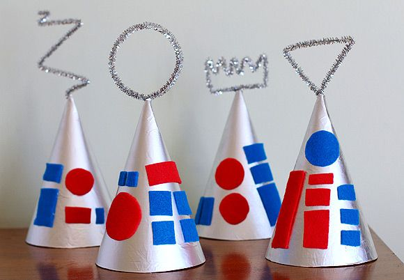 DIY Robot Party Hats