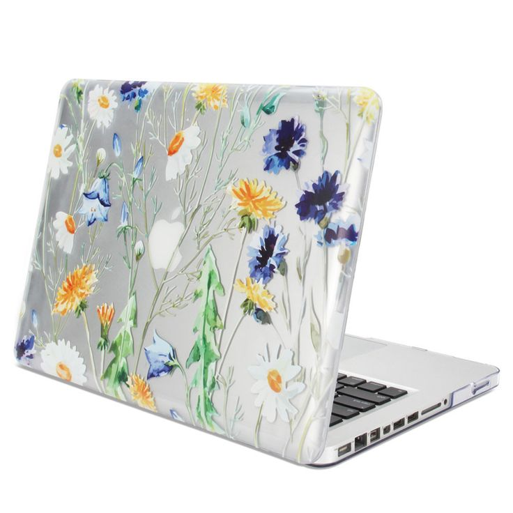 Transparent Fresh Floral Glossy Case for 13-inch MacBook Pro
