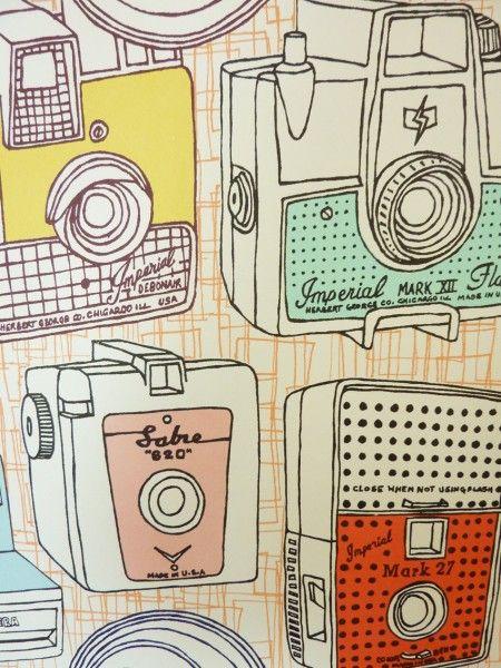Lovely Patrick Edgeley printRetro Wallpapers, Retro Cameras, Vintage Cameras, Edgeley Prints, Cameras Prints, Canvas, Illustration Art, Edgeley Cameras, Patricks Edgeley