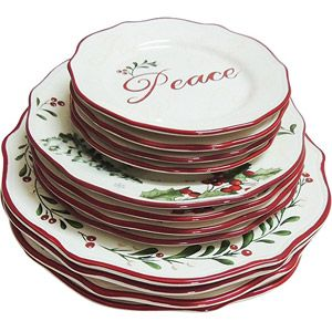 Beau Better Homes And Gardens 12 Piece Dinner Plate Set, Holiday Assorted.  Walmart