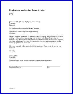 Employment Verification Letter - Sample employment verification ...