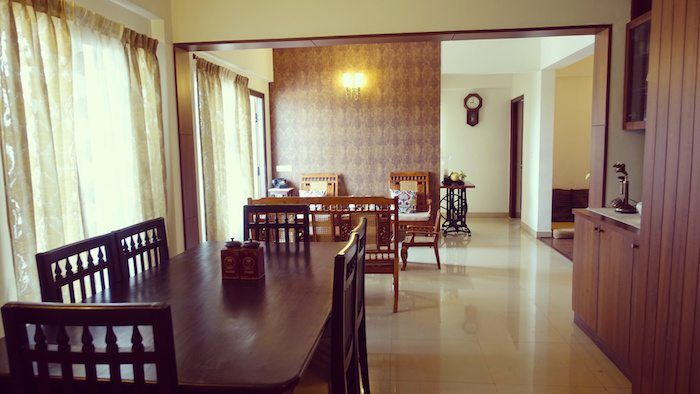 I know you are waiting eagerly for part 2 of Seethu's colonial chic apartment and here it is. Note the minimalist elegance...