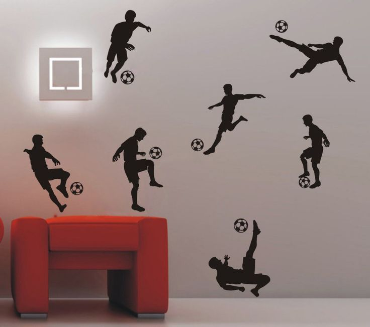 Soccer Football And Famous Soccer Players Wall Stickers Home Decor Wall  Decal For Kids Room Sport Part 83