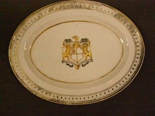 An oval porcelain dish with the coat of arms of the Hon.East India Company & 56 best Hon. East India Company dinner service c.1798 images on ...