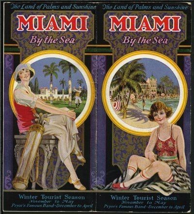 miami travel posters vintage miami poster from the 1920. Black Bedroom Furniture Sets. Home Design Ideas