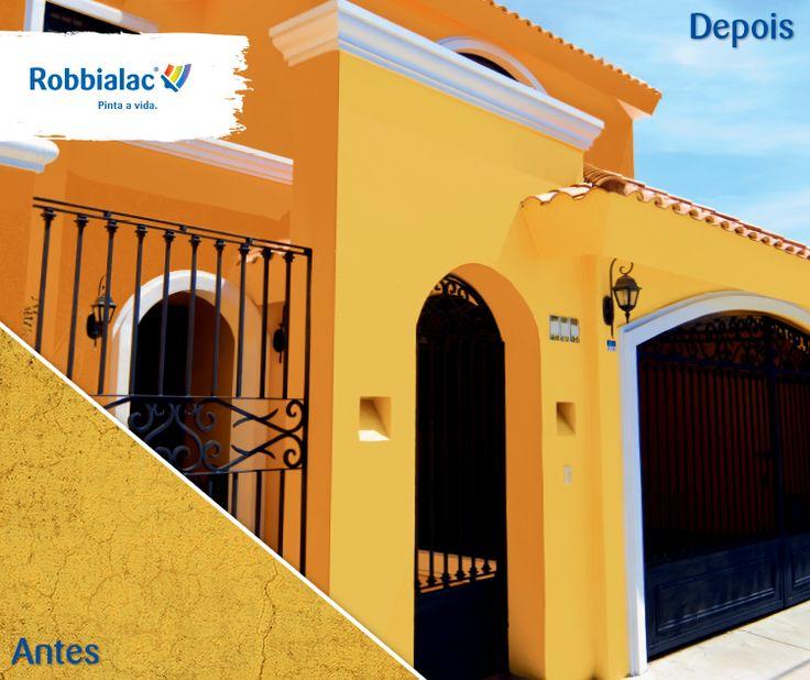 Porquê aplicar Robbiflex? Em paredes novas, previne a fissuração e impermeabiliza; em paredes deterioradas, oculta pequenas fissuras e impede a penetração da água!
