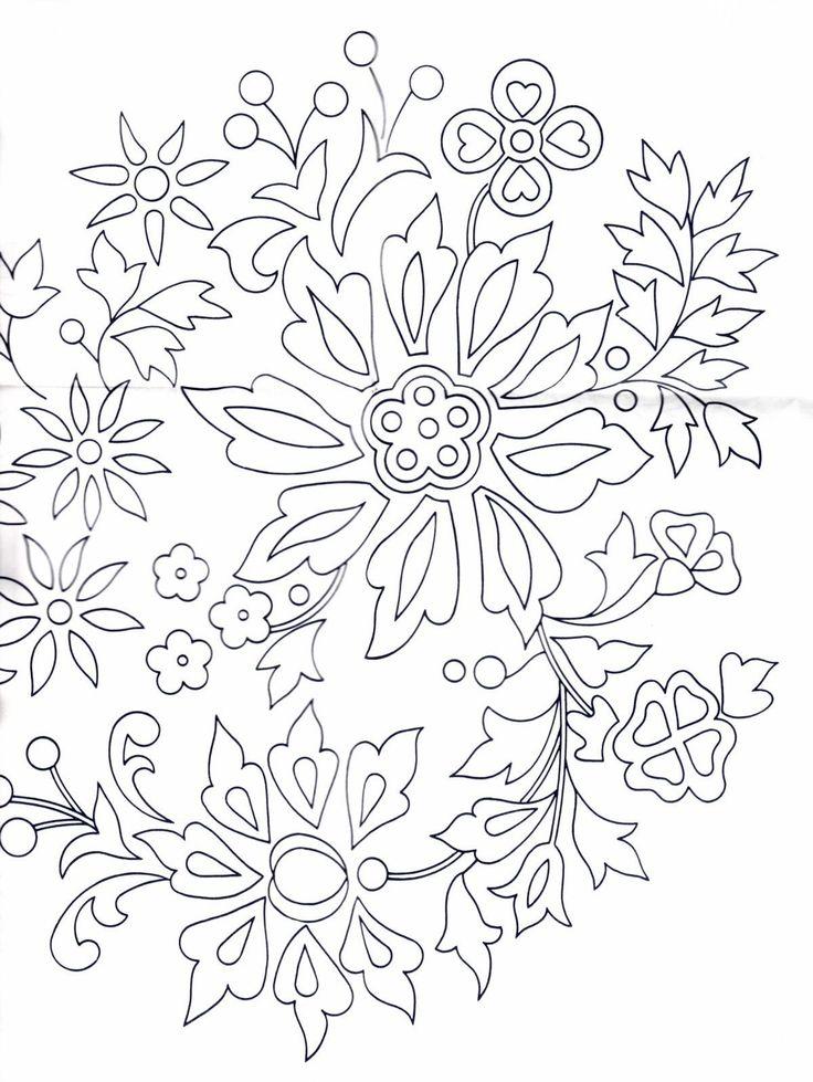 Bügelmuster-Abplättmuster Blütenmotive für verschiedene