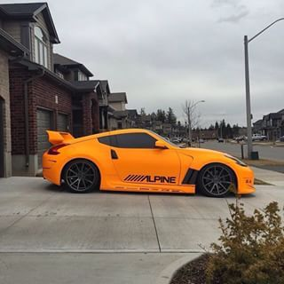 350z Nissan orange & black