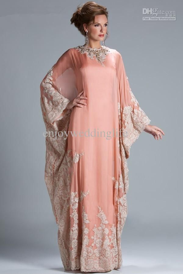 Real Image Arabic 2015 Mother Of Bride Groom Dresses Peach Coral Chiffon Lace Beaded Long Sleeves Muslim Floor Length Evening Gowns Jq3309 Brown Mother Of The Bride Dresses Champagne Mother Of The Bride Dress From Enjoyweddinglife, $107.26  Dhgate.Com