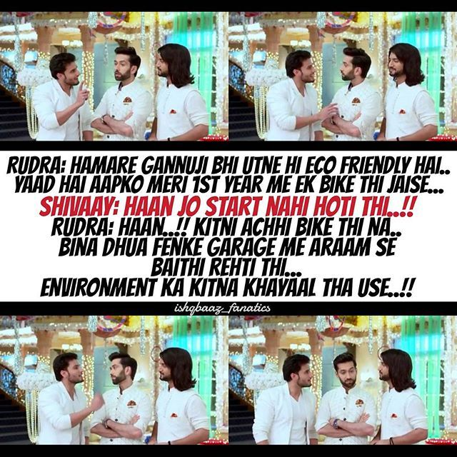 What can be more eco friendly than a bike which doesn't start...  #Rudra #Omkara #Shivaay #OBros #OberoiBrothers #IshqbaazBrothers #Brothers4Life #GaneshChaturthi #Ishqbaaaz #21Sept2016 @nakuulmehta @kunaljaisingh @leenesh_mattoo