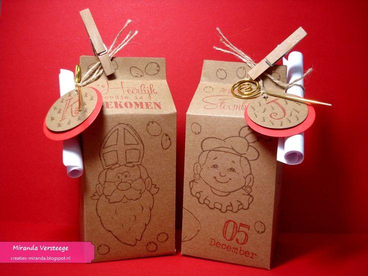 Miranda's Creaties - Melkdoosje Sinterklaas