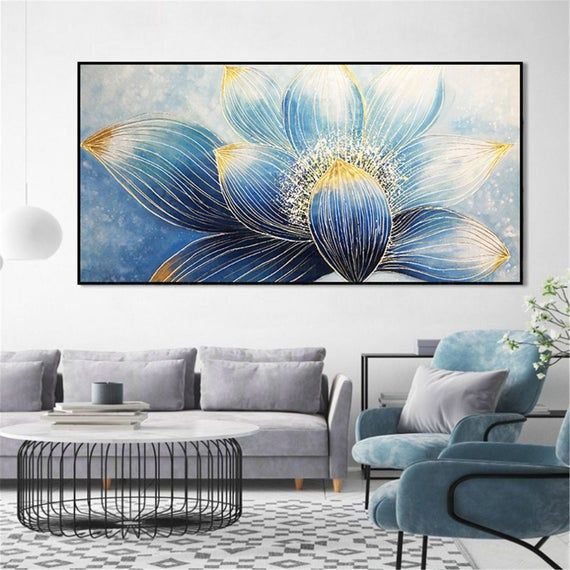 Gold Line Abstract Flower Painting Framed Canvas Wall Art Etsy In 2021 Wall Art Pictures Flower Painting Canvas Abstract Flower Painting Great paintings for living room