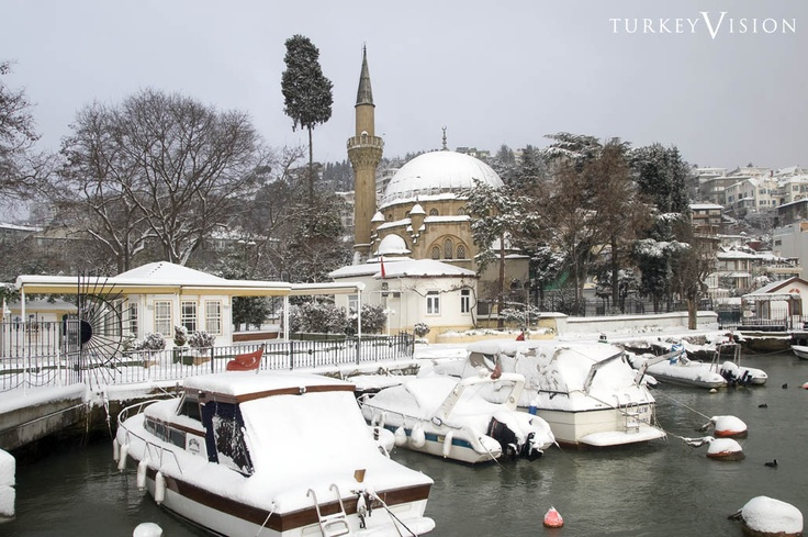 Park of Bebek with Snow