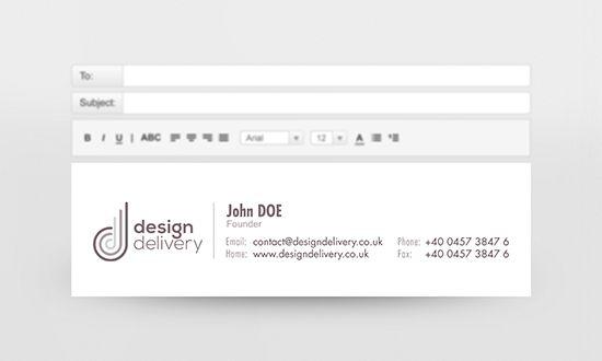 Custom email signature design