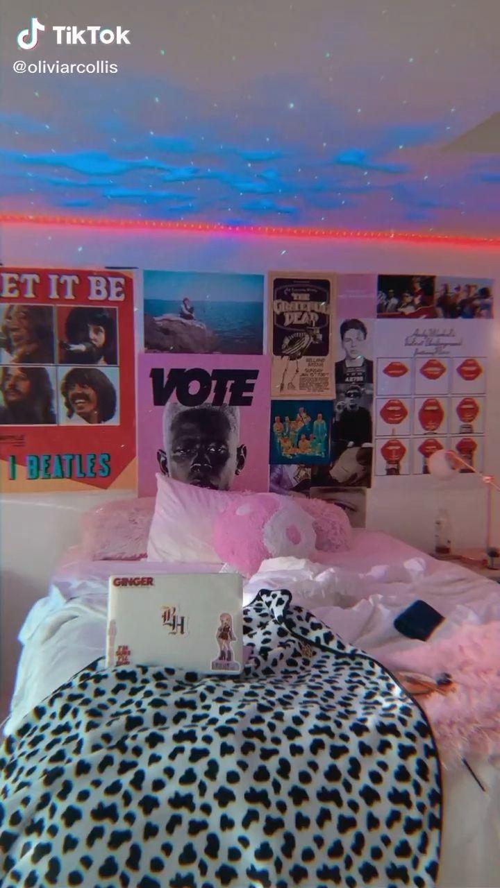 Oliviarcollis Neon Room Retro Room Dorm Room Inspiration
