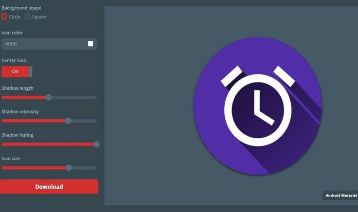 Material Icon Generator es una herramienta web gratuita que nos permite personalizar nuestros propios iconos Material Design y posteriormente descargarlos.