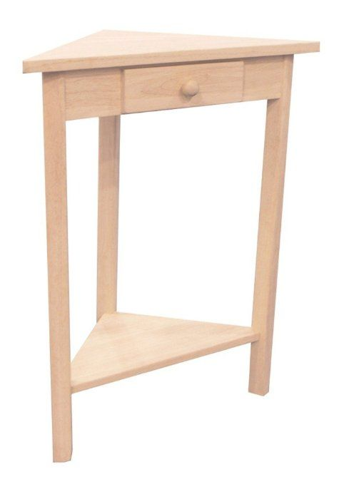 Amazon.com - International Concepts OT-95 Corner Accent Table, Unfinished $29.74