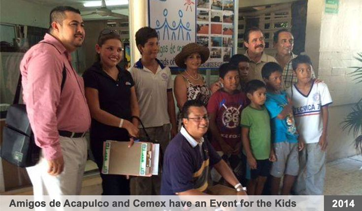 "A special event sponsored by ""Friends of Acapulco"" and ""Cemex"", in July of 2014. Pictured are representatives from both ""Cemex"" (Cementos de Mexico) and ""Friends of Acapulco"", along with a group of young boys from the Marsh Home.  Special thanks ""Friends of Acapulco"" & ""Cemex"" for so generously donating their time and for their financial donations to the Marsh Children's Home.  We appreciate your support throughout the years.  God bless!"