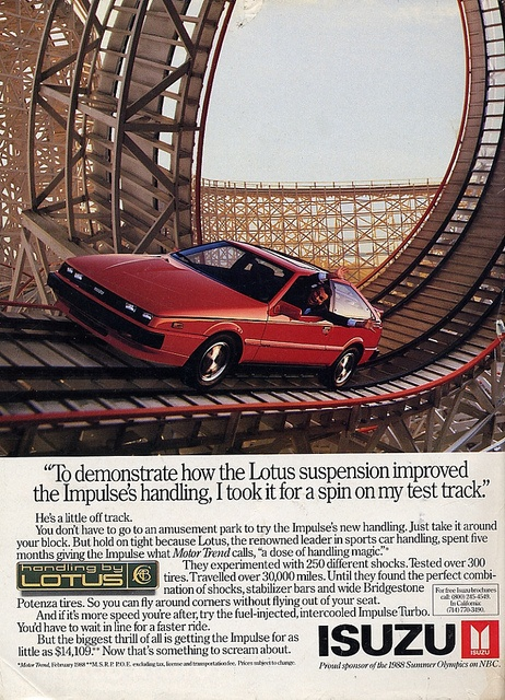 1988 Isuzu Impulse...the first car I purchased on my own. It wasn't fast but it was fun to drive.