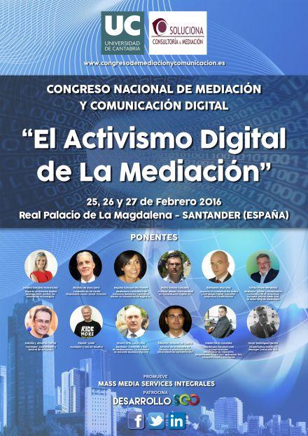 Congreso Nacional de Mediación y Comunicación Digital.  Santander. Febrero 2016
